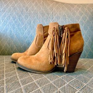 MIA Suede Tassel Heeled Boots